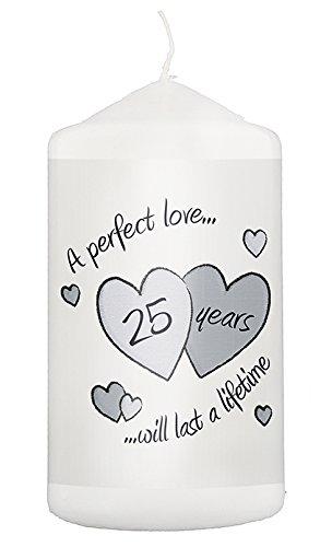 2525veinte quinto aniversario de bodas de plata vela de la novedad regalos para él su parejas, marido de recuerdo de Idea