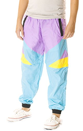 80s Retro Style Windbreaker Pants for Men. Not Skidz but ideal for 80s dress-up.