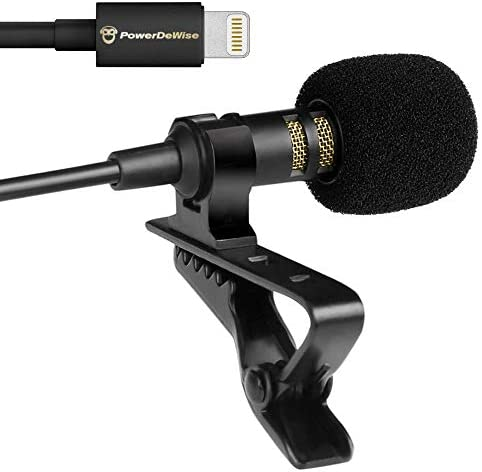 PowerDeWise Lavalier Microphone Compatible with iPhone 7 7 Plus 8 8 Plus X XR XS XS Max 11 11 product image