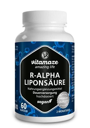 Acido Alfa Lipoico Capsule ad Alto Dosaggio, 200 mg per Capsula, Vegan, 60 Capsule per 2 Mesi, Forma Naturale di Acido Tiottico, Antiossidanti Integratore Alimentare senza Additivi Inutili