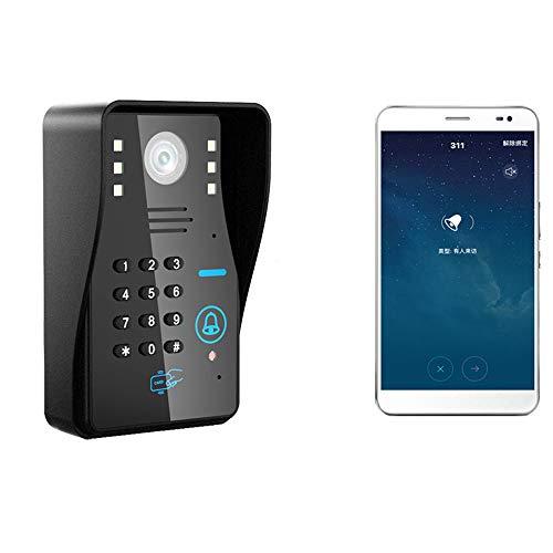 COUYY Drahtlose IP WiFi RFID-Kennwort-Video-Türsprechanlage Türklingel-Intercom-System Nachtsicht-Wasserdichter...