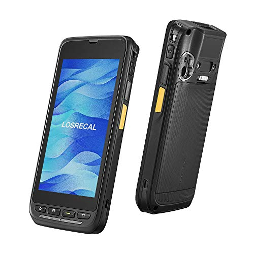 LOSRECAL Industrial Mobile Computer PDA, Rugged IP65 Handheld POS Terminal with Zebra 1D Android Barcode Scanner, Data Collector with Touch Screen 4G WiFi BT GPS for Delivery Warehouse Inventory barcode handheld scanner