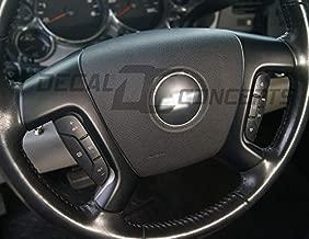 Silverado Tahoe FULL Flat Black Steering Wheel Spoke Overlay Decal Matte (07-13)