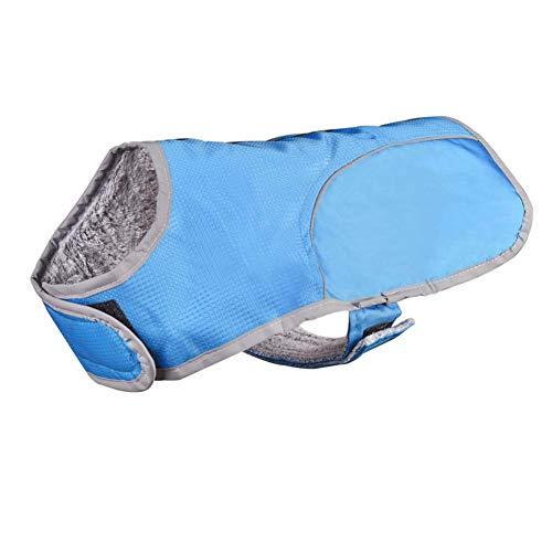 Ksith hondenkleding voor honden, reflecterend, winterjas, voor buiten, waterdicht, koud, warm, kleding voor huisdieren, L, Blauw