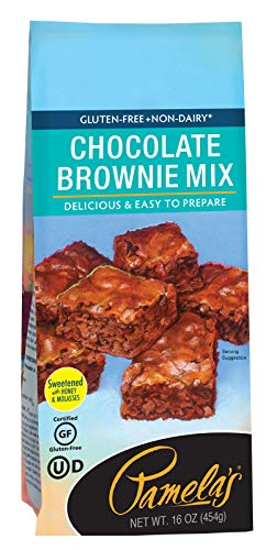 Pamela's Products Gluten Free Chocolate Brownie Mix, 16-Ounce Packages (Pack of 6)