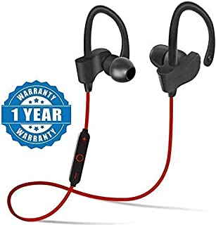 Celrax QC-10 Bluetooth Earphone Wireless Headphones for Mobile Phone Sports Stereo Jogger,Running,Gyming Bluetooth Headset Compatible with All Devices(Multicolour)