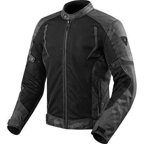 REV'IT! Motorradjacke mit Protektoren Motorrad Jacke Torque Textiljacke schwarz/grau XL, Herren, Tourer, Sommer