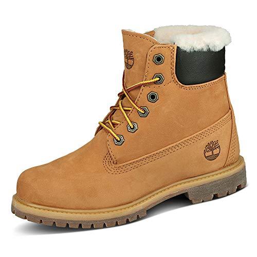 Timberland W Icon 6-Inch Premium Shearling Lined Boot Gelb, Damen Winterschuh, Größe EU 39 - Farbe Wheat Waterbuck