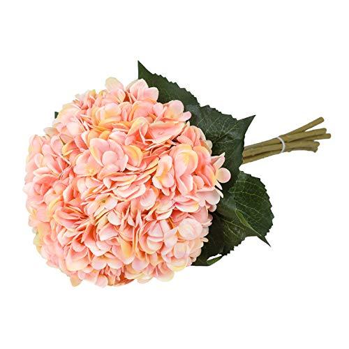 Tifuly Artificial Hydrangea Flower, 5 PCS Ramos de hortensias de Seda de...
