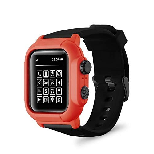 Ip68 Funda de silicona impermeable con correa deportiva para reloj Apple Watch Series 6 5 4 3 2 42 mm 44 mm 44 mm 42 mm Accesorios