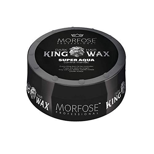 Morfose King Hair Wax 175ml Haarwachs Mad,Lion,Wise,Dark,Brave Haargel Matt Gel-Wax Haar Styling (1x Super Aqua (Schwarz))