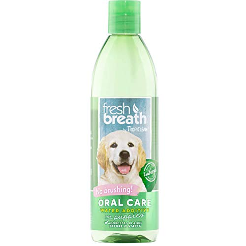 Fresh Breath by TropiClean Oral Care Water Additive for Puppies, 16oz - Made in USA