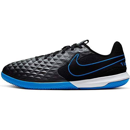 Nike Legend 8 Academy IC, Zapatillas de Fútbol, Negro (Black/Black/Blue Hero 004), 28 EU