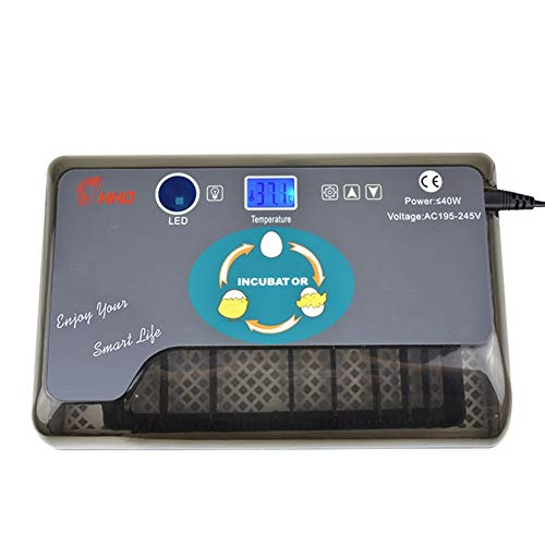HR Vollautomatische Brutmaschine Eier Inkubator Automatisch mit Effizienter LED Beleuchtung,Inkubator Brutkasten Brutmaschine Hühner,12 Hühnerei Für Huhn, Ente, Gans, Taube, Wachtel
