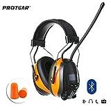 Protección auditiva para audífonos de Seguridad Bluetooth Am FM con batería de Litio Recargable,...