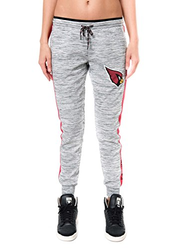Ultra Game Women's NFL Active Basic Fleece Jogger Sweatpants, Arizona Cardinals, Gray Space Dye, X-Large Arizona Cardinals Fleece Fabric