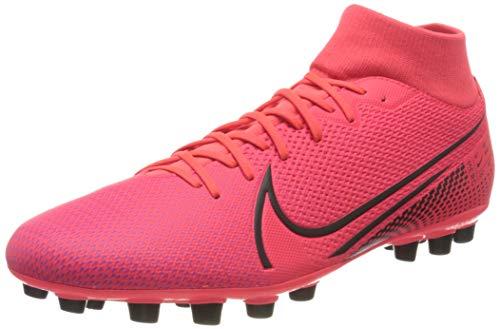 Nike Superfly 7 Academy AG, Zapatillas de fútbol Americano Unisex Adulto, Laser Crimson-Láser para Crimson, Color Negro, 41 EU
