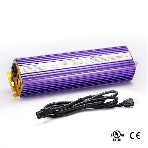 TOPHORT 600 Watts Digital Dimmable Electronic Ballast for HPS MH Grow Light Bulb Lamp (600W, Purple)