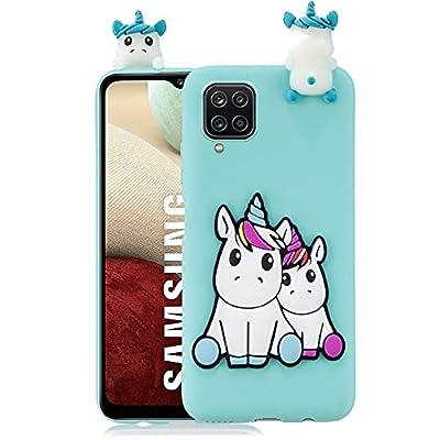 HopMore Funda para Samsung Galaxy A12 Silicona Flexible Blando Divertidas Animal Carcasa Funda Samsung A12 Dibujo 3D Gel Case Ultrafina Cover Gracioso - Verde