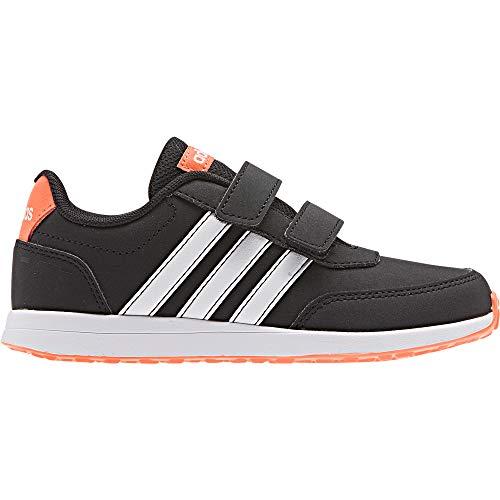 adidas Unisex-Child VS Switch 2 CMF Sneaker, Core Black/Footwear White/Solar Orange, 28 EU