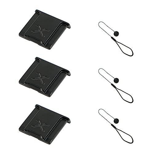 3 piezas de aleación de aluminio material de la cámara Hot Shoe Cover Cover Cover para Fujifilm Fuji Camera Negro…