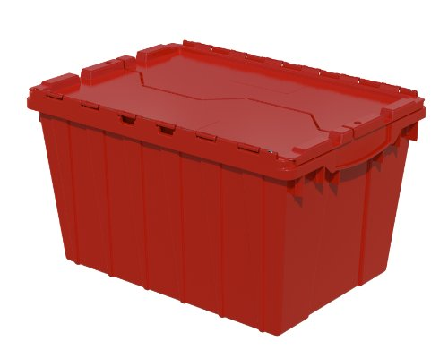 Akro-Mils, 39120RED, Attached Lid Container, 1.62 Cu Ft, Red