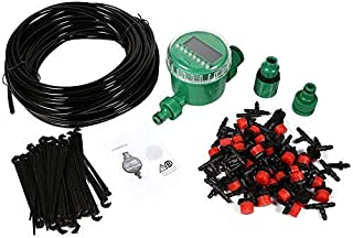 Drip Irrigation Kit, 20m Auto Timer Plant Self Watering Drip Irrigation Micro System Garden Dripper Hose Kits for Garden G...