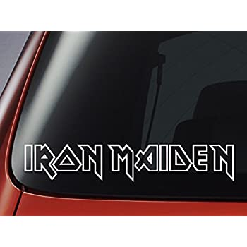 Iron Maiden Car Bumper Sticker Decal 8 X 2
