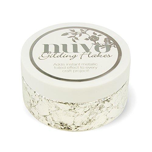 Nuvo by Tonic Studios Nuvo Metallflocken – Silver Bullion (200ml), Powder, 9x9x5 cm