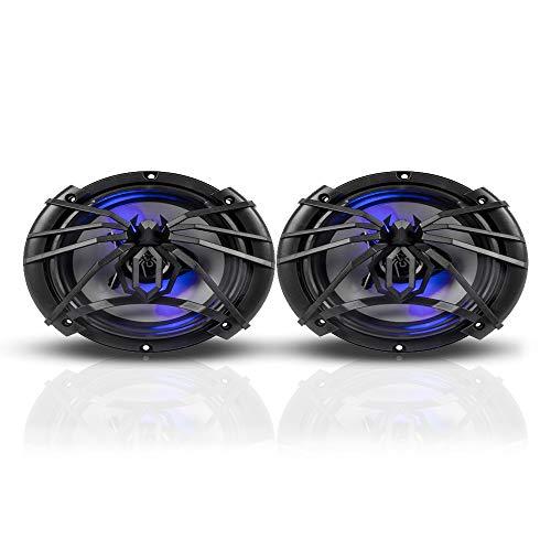 Soundstream Par De Bocina 6x9 Cono Plata Y LED Azul