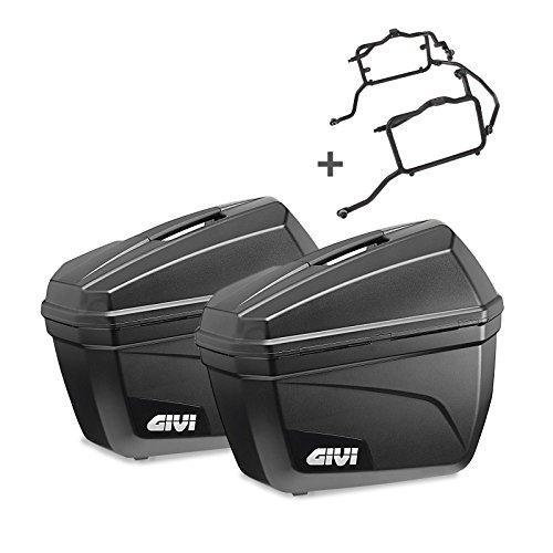 Borse laterali rigide Set Yamaha XSR 900 2016 Givi Monokey E22N nero 22 litri