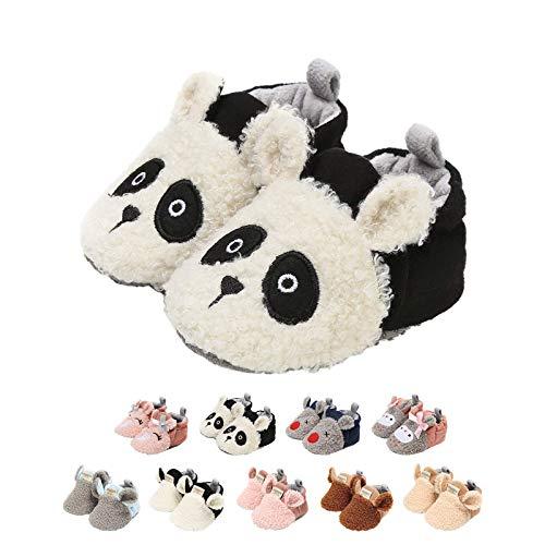 Kreskówka, zwierzęta, buty niemowlęce, obuwie uniseks dla noworodków, urocze buciki, z antypoślizgową podeszwą, buty zimowe, pierwsze buciki do chodzenia, buty, A Panda, 0-6 Miesiące