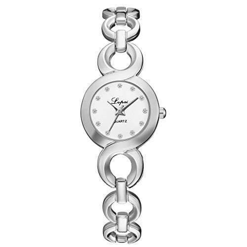 Sommer Runde Uhr Uhrenarmband,Women Damen Metallarmband ErsatzarmbäNder Ersatzarmband Erweiterbar Gold Uhr Frauen Uhren Chronograph Markenuhren Herren Damenarmbanduhr