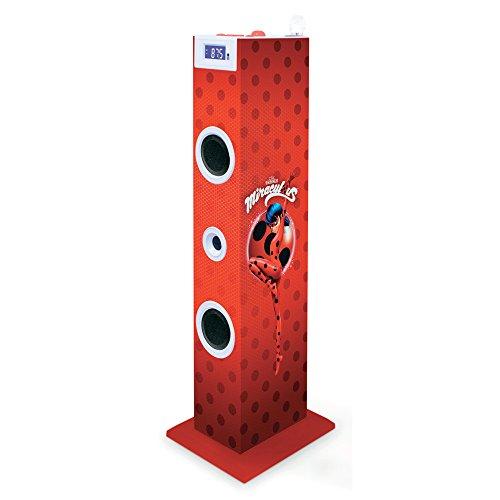 Miraculous tw5miraculous–Torre Multimedia con karaoke Ladybug, 20x 24X72, colore: rosso
