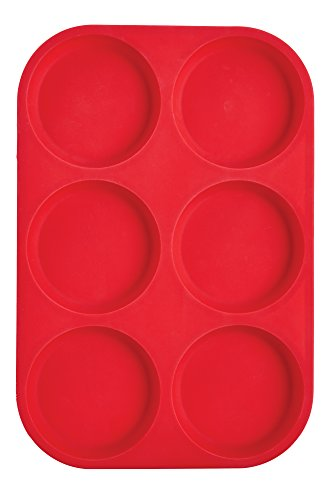 Mrs. Anderson's Baking 43817  6-Cup Muffin Top Pan, Non-Stick European-Grade Silicone