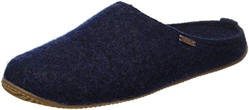 Living Kitzbühel Damen Walkpantoffel Uni mit Fußbe Pantoffeln, Blau (Nachtblau 590), 41 EU