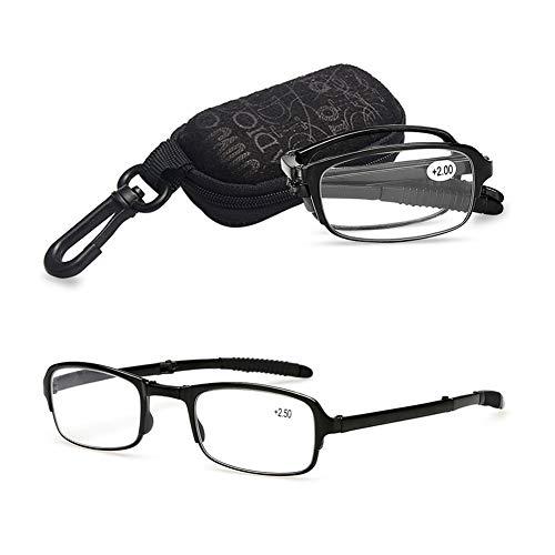 VEVESMUNDO Faltbare Lesebrillen Sehstärke Lesehilfe Augenoptik Brillen Sehstärke mit Etui 1.0 1.5 2.0 2.5 3.0 3.5 4.0