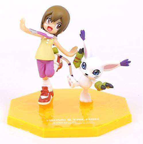 Yangzou 10 Cm Digimon Tailmon Yagami Hikari PVC Figurines Modèle Jouet Anime Digimon Adventure Tri Collection Jouet Jouets pour Enfants