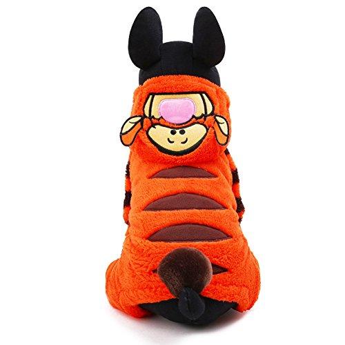 HSL Fashion Capuche/Costume/Veste/Manteau/Vetement/Pull Hiver Automne Style Forme Tigre pour Petit Chien, Orange, XXS