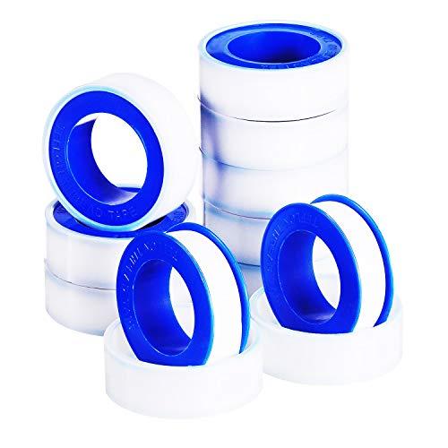 Cinta de PTFE Thread Seal 10Pk Blanca 19mm X 12M