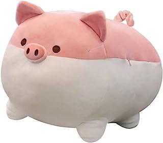 Auspicious beginning Stuffed Animal Plush Pig Toy Anime Kawaii Plush Soft Pillow, Plush Toy Best Gifts for Girl Boy (Pink,...