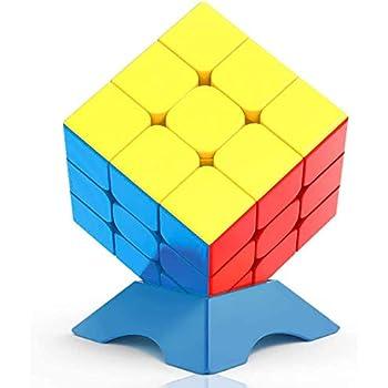 FAVNIC 練習用キューブ 立体パズル 3x3x3 脳トレ プレゼント ステッカーレス 競技用 ポップ防止 (競技用3x3)