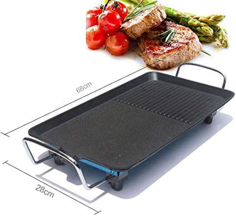 HYISHION Barbecue électrique Grill Accueil fumée Place antiadhésifs Cuisinière Multifonction Poêle Plaque chauffante, L SKYJIE (Size : M)