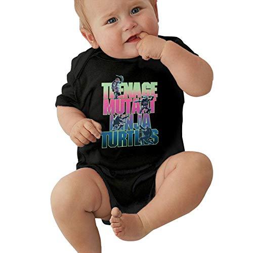 Mutant-Ninja Turtles Newborn and Baby Short-Sleeve Body-Suit Cotton Jumpsuit Black 0-3 Months
