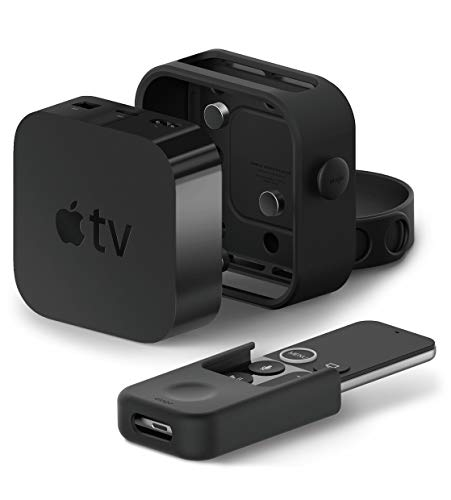 elago Multi Mount Multi Wandhalterung Paket mit Remote Holder Mount Fernbedienungshalter Kompatibel mit Apple TV 4K / 4. Generation – [All-IN-ONE Kombination] [DREI Montagemöglichkeiten] [Ventilation]