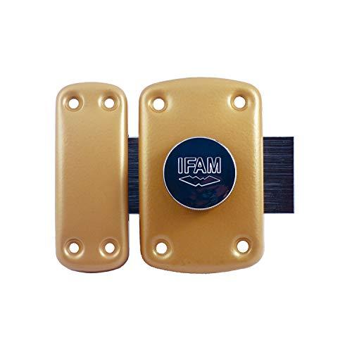 IFAM B6/50 (025360) – Verrou de sécurité pour porte, système douverture pomme/clé, levier de 110 mm et 2 tours, 5 clés à points de sécurité