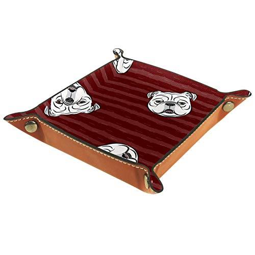 Chinfy Schreibtisch-Ablageplatte für Schlüssel, Geldbörse, Schmuck, Telefon, Englische Bulldogge