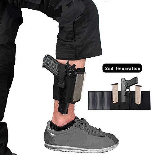 Gexgune Nylon Holster schwarz Magazin Tasche Knöchel Bein verdeckt Tragen Glock 19 26 27 42 43 Pistole Ruger Sig Taktische Holster