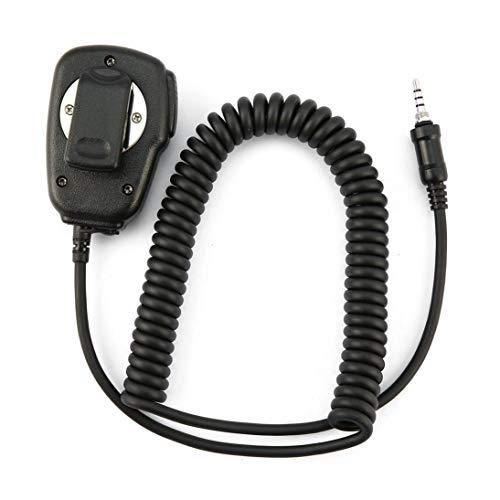Micrófono Altavoz de Radio estándar Micrófono para Yaesu VX-7R VX-6R VX-120 VX-170 VX-177 Radio Walkie Talkie Accesorios (Negro) ToGames-ES