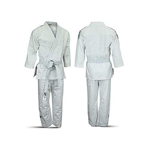 Dorawon, Kimono judogi de algodón KUDOKAN Talla 160 cm, Blanco